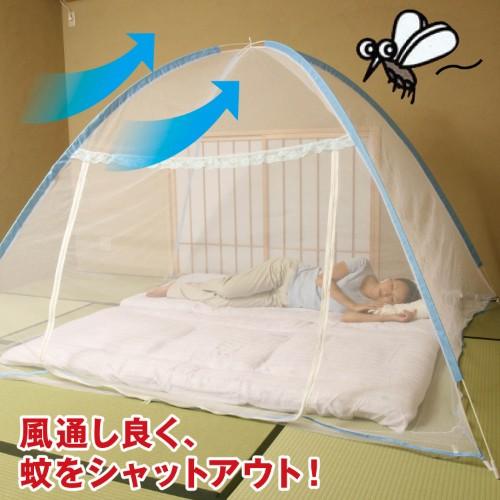 蚊帳で虫を完全ガードしたなら安心して眠りの世界へ