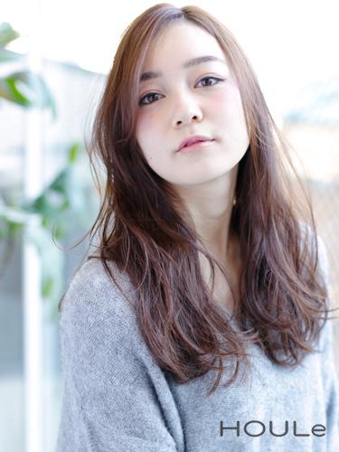 前髪なし ワンレンロング15