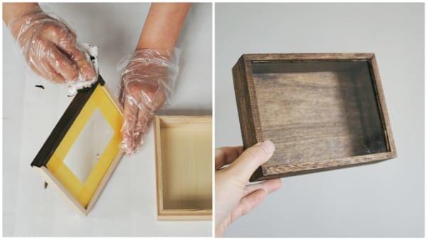 1.ウッドボックスをお好みの色に塗る