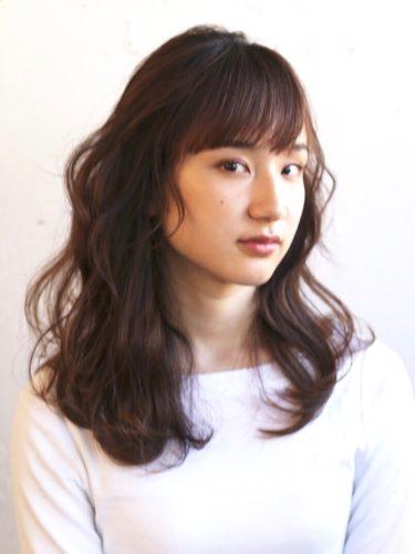前髪あり ワンレンロング10