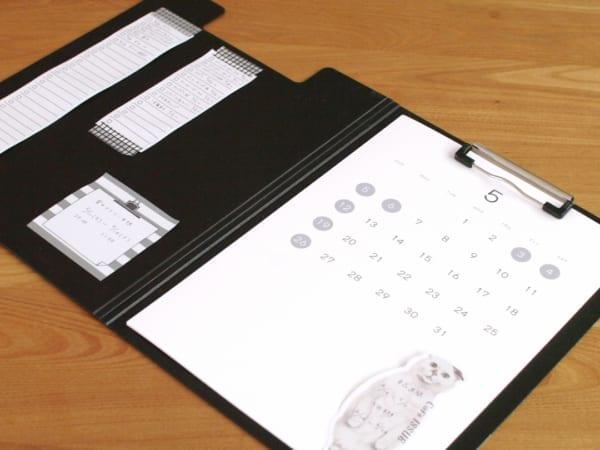 A4 カバー付き クリップボード 縦 セリア3
