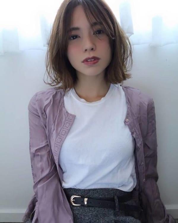 面長に似合う髪型6