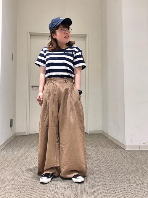 [AVIREX Belle] タックギャザールーズフィットパンツ/ TUCK GATHERS LOOSE FIT PANTS