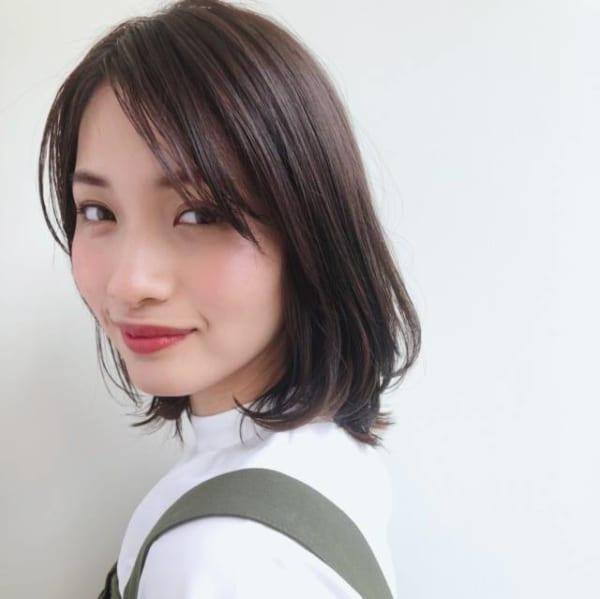 ベース型に似合う髪型6