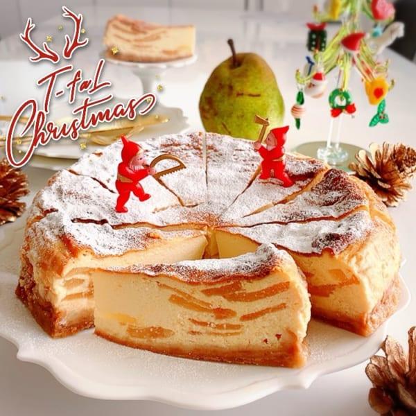 ラフランスベイクドチーズケーキ