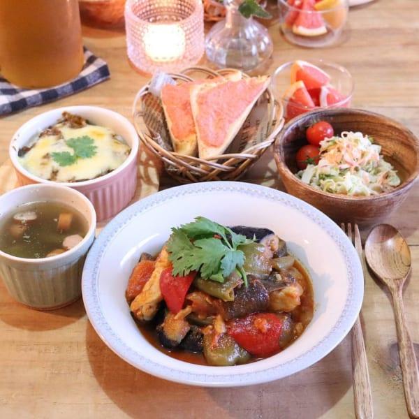 手羽元と夏野菜のラタトゥイユ