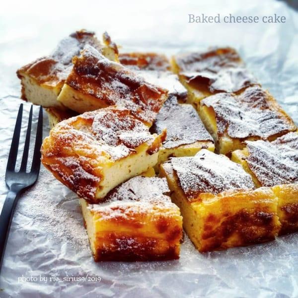 大豆粉を使った濃厚チーズケーキ