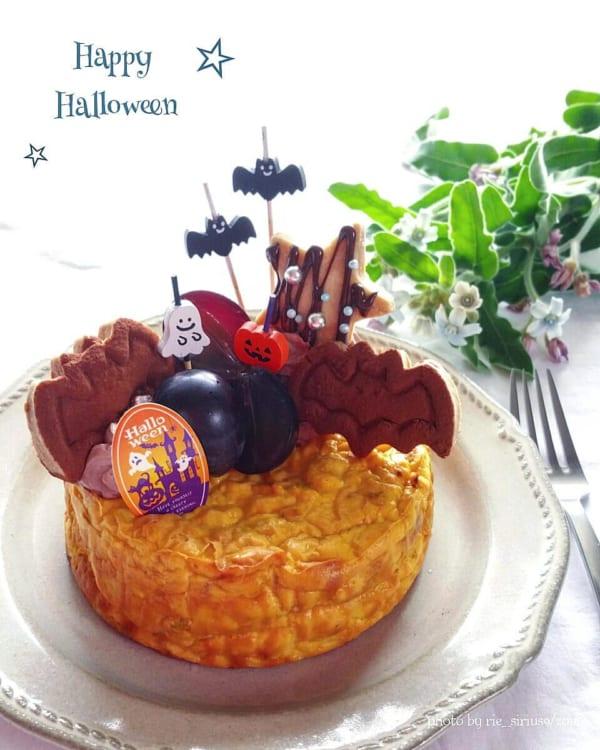 かぼちゃのベイクドチーズケーキ2