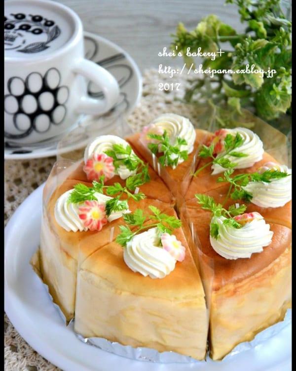 基本のスフレチーズケーキ2
