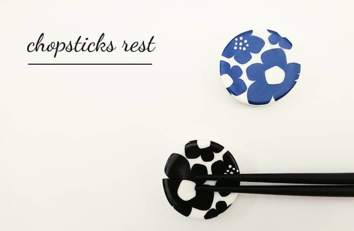 北欧風花柄箸置き:セリア