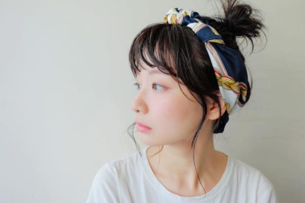 丸顔さん まとめ髪3