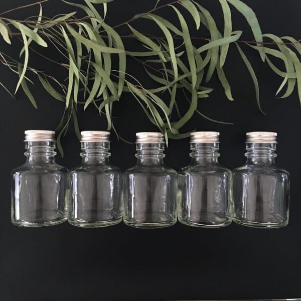【セリア】シンプルなガラスの小瓶