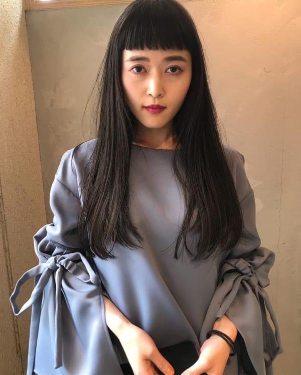 オン眉×黒髪ロング6