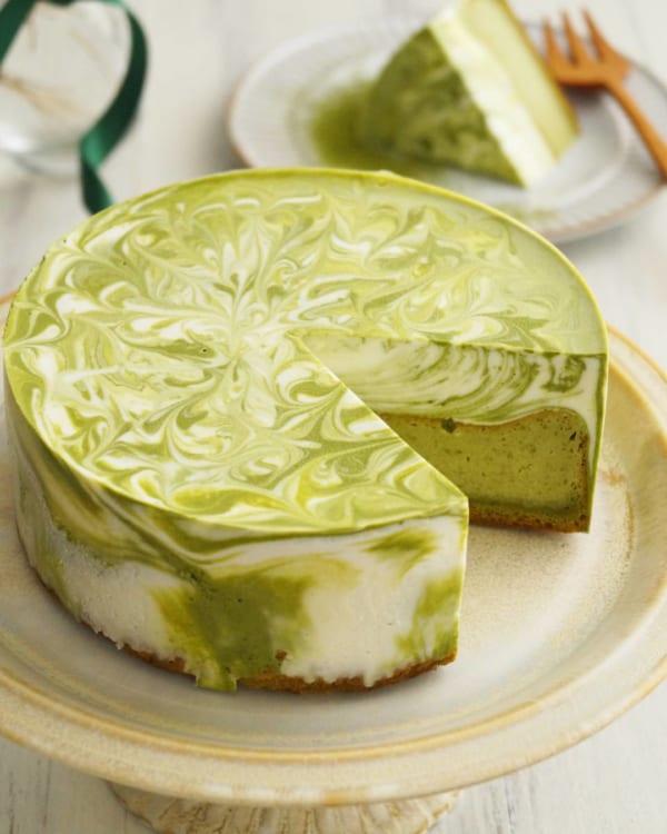 マーブルレアチーズケーキ