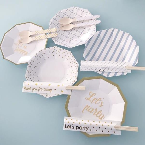 高見えデザインの紙皿
