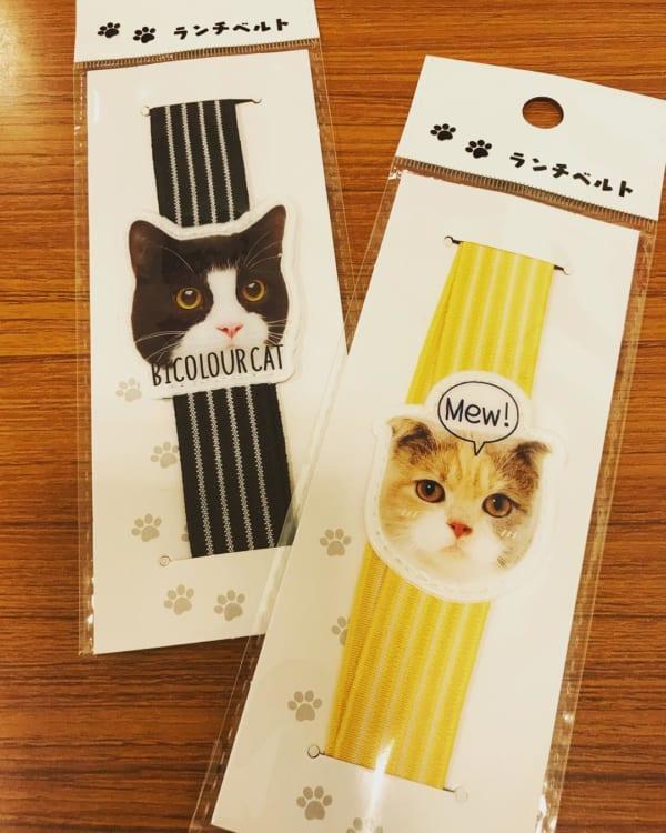 リアル猫のベルトがあればランチタイムも楽しく!