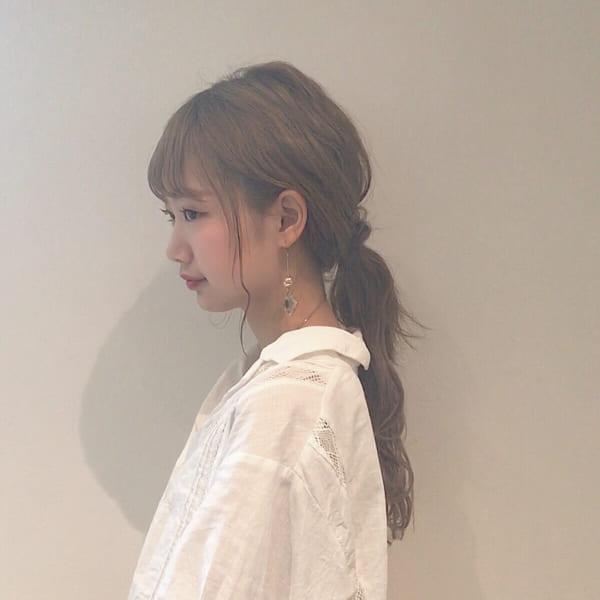 前髪あり ポニーテール 4