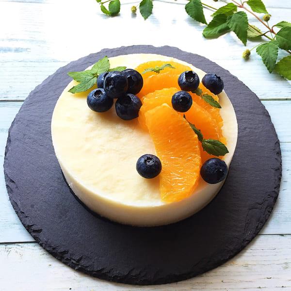 豆腐とヨーグルトのレアチーズケーキ