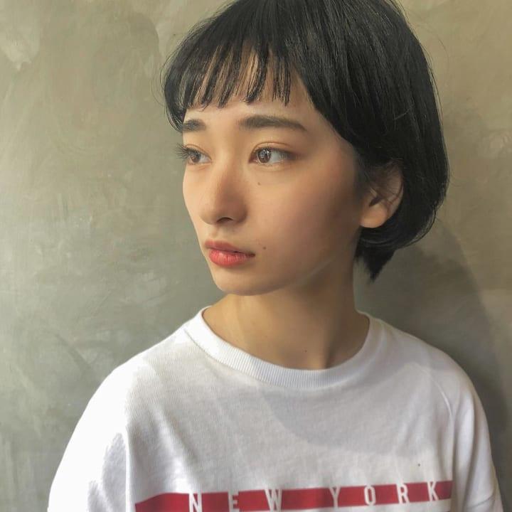 丸顔さんに似合うオン眉ヘアスタイル☆