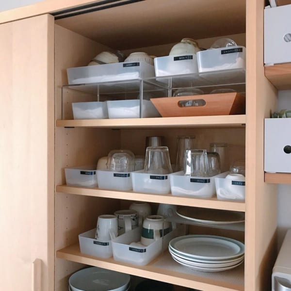 食器はケース毎に管理する