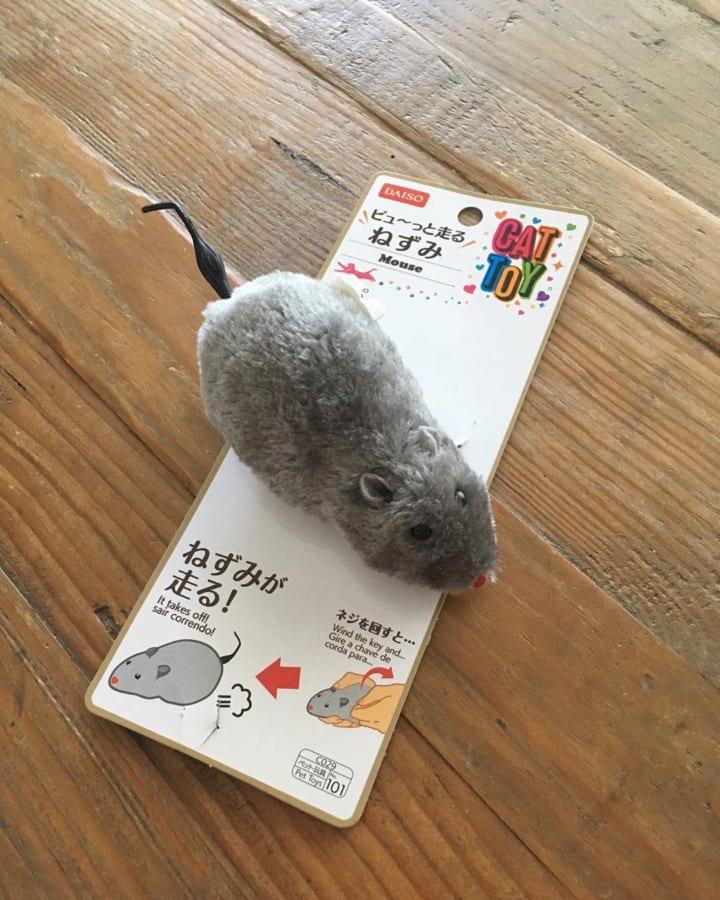 ペットと遊べるリアルネズミトイ【ダイソー】