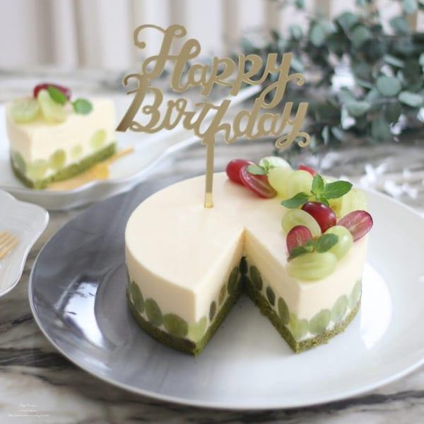 ぶどうのホワイトチョコムースケーキ