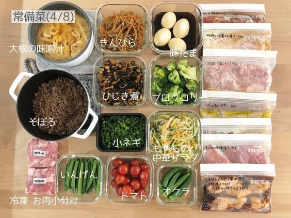 日々の食事作りに役立つ作り置き