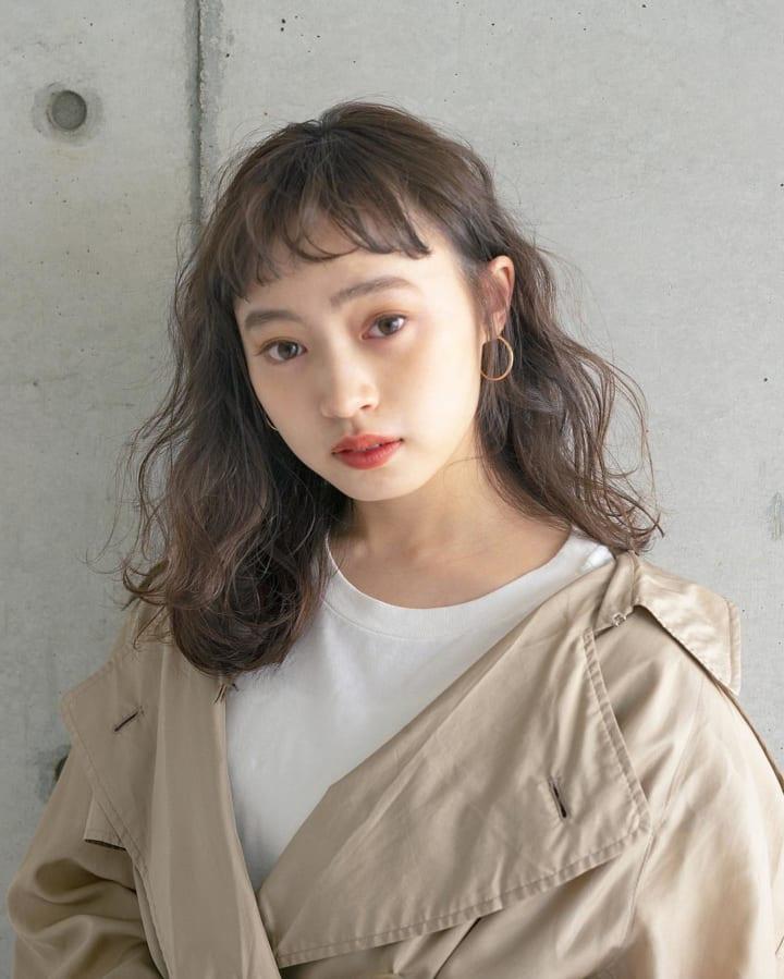 丸顔さんに似合うオン眉ヘアスタイル☆6