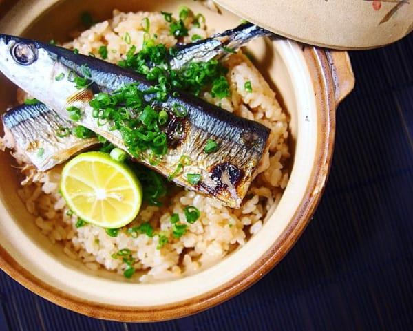 秋刀魚の炊き込みご飯2
