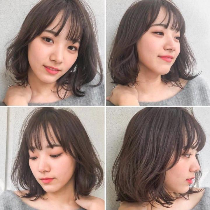 ふんわりレイヤーパーマ×ぱっつん前髪2