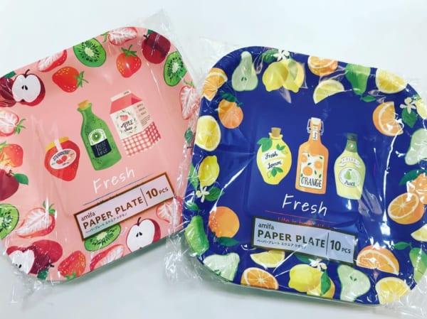 フルーツ柄の紙皿