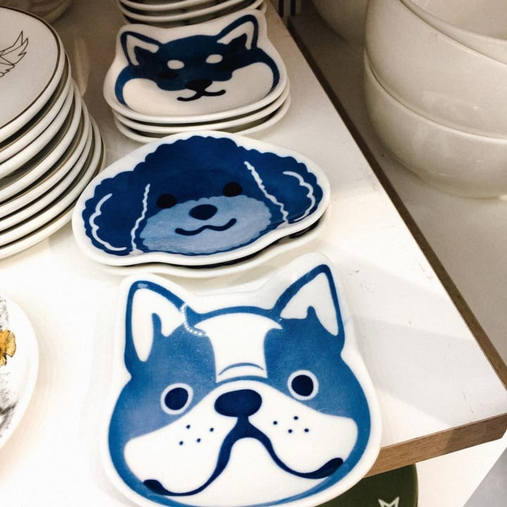 可愛いワンちゃん豆皿:ダイソー