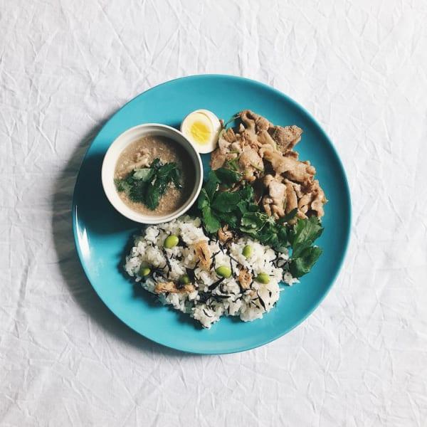 ひじきの炊き込みご飯2