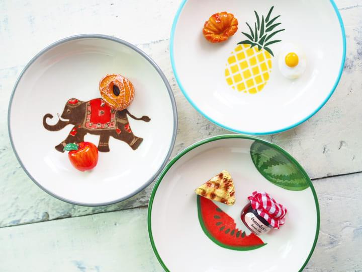 パイナップルモチーフの小皿