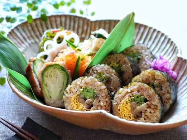 炊き込みご飯で巻き寿司
