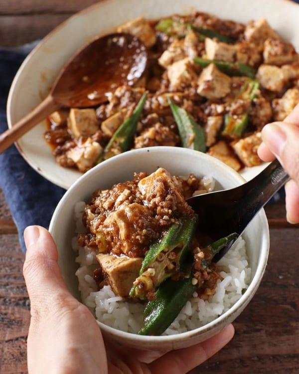 オクラ入り麻婆豆腐