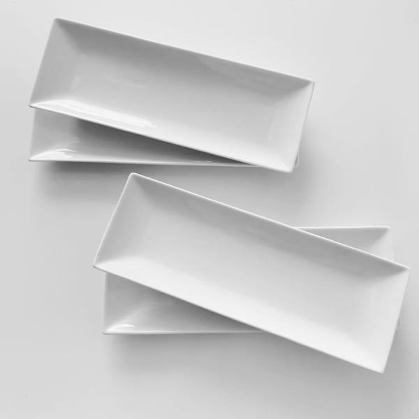 シンプルが使いやすい、ホワイト長方皿