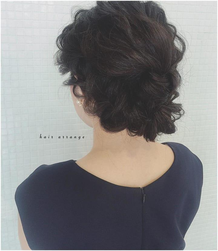 黒髪×サイドフィッシュボーン