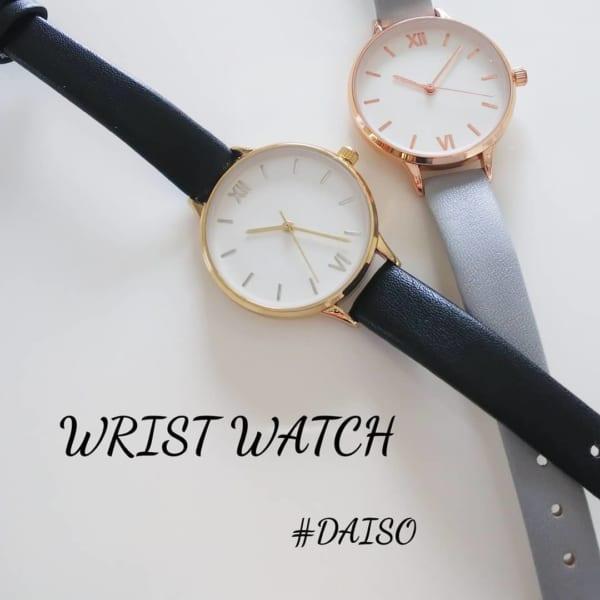 レディース腕時計:ブラックベルト