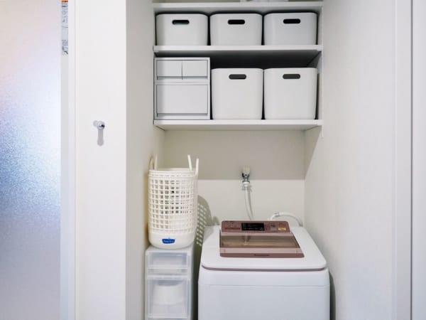 ポリプロピレンストッカーで洗剤収納