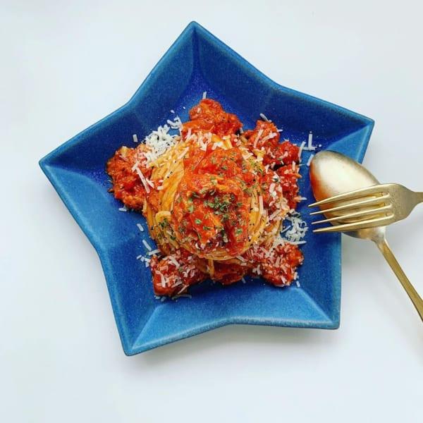 トマトとツナのパスタ2