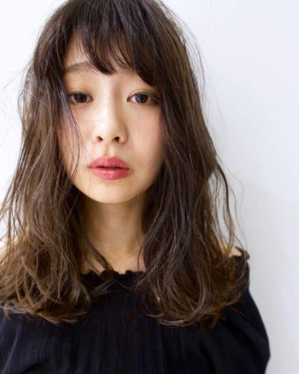面長に似合う髪型10