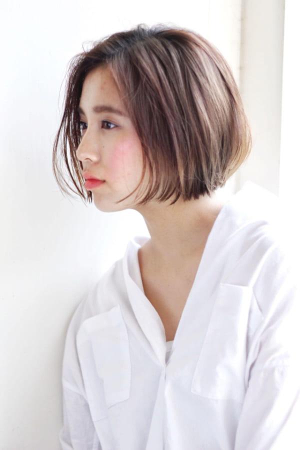 丸顔に似合う髪型4