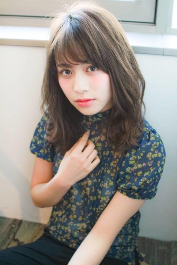 面長に似合う髪型9