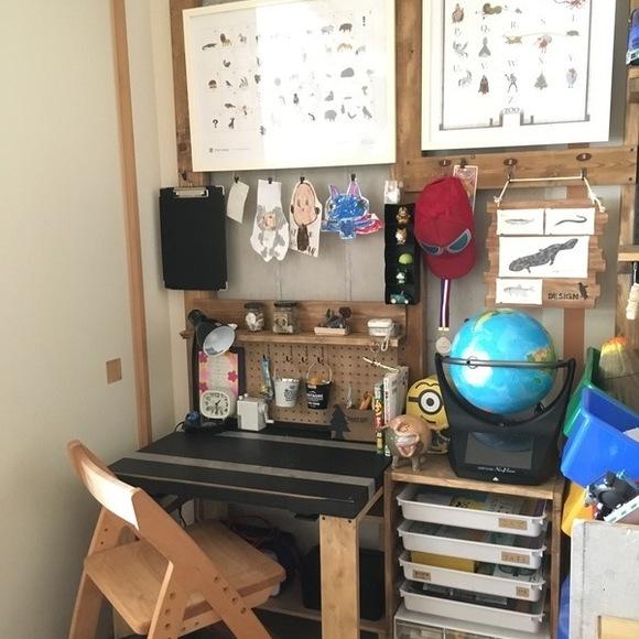 ベビーベッドを学習机にリメイクDIY