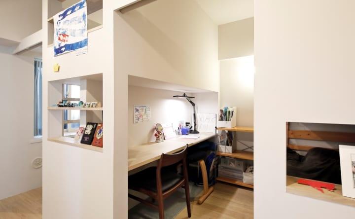 家全体がゆるくつながる間取りドアのない立体的な子ども部屋