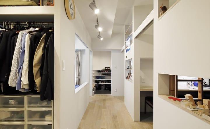 家全体がゆるくつながる間取りドアのない立体的な子ども部屋3