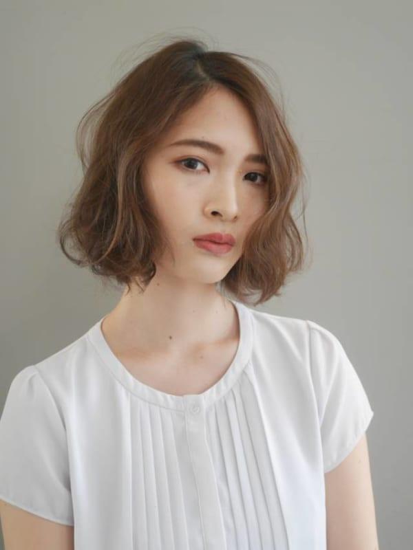 面長に似合う髪型7