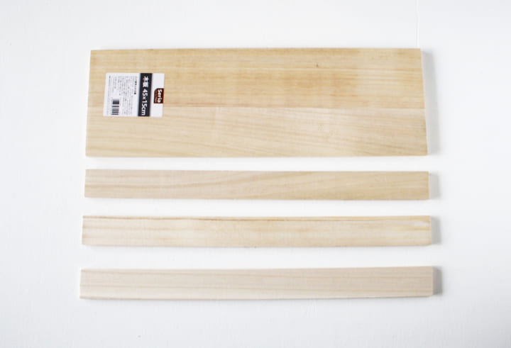 セリアの「木板」