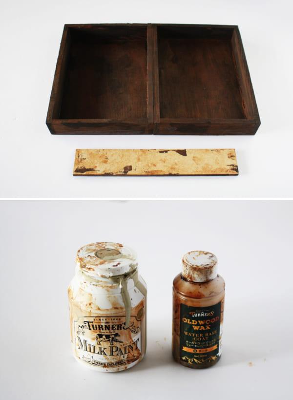 貼って塗るだけの簡単DIY!アンティーク風ドロワーの作り方3